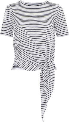Whistles Stripe Side Tie Tee