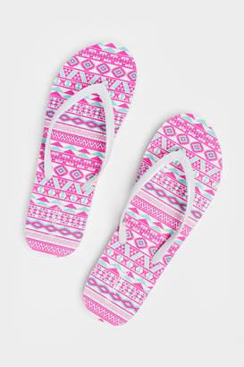 Ardene Aztec Flip-Flops