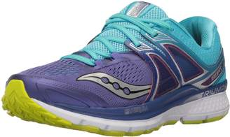 Saucony Women's Triumph ISO 3 Running Shoes, Purple/Blue/Citron