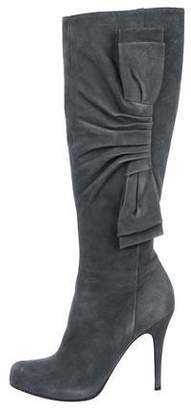 Valentino Suede Pointed-Toe Boots