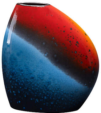 Poole Pottery Flare Asymmetrical Bean Vase, Red/Blue