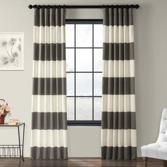 Eff EFF 1-Panel Stripe Cotton Window Curtain