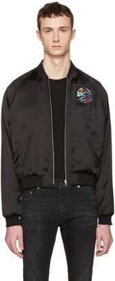 Saint Laurent Black Teddy 'Sweet Dreams' Shark Bomber Jacket $2,690 thestylecure.com