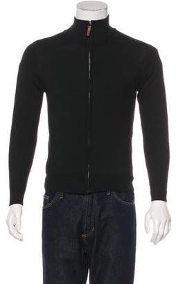 Pierre Balmain Wool-Blend Zip Sweater