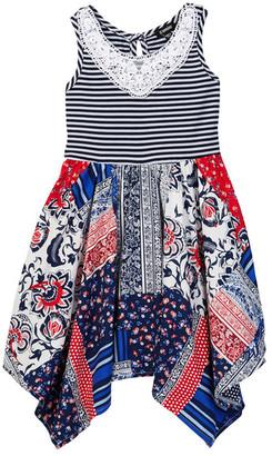 Zunie Mixed Media Americana Crochet Dress (Toddler Girls) $46 thestylecure.com