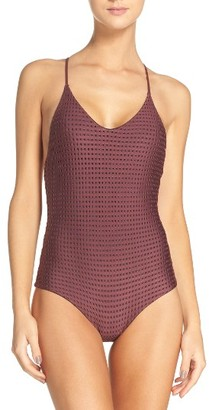 Women's Acacia Swimwear Racerback One-Piece Swimsuit $204 thestylecure.com