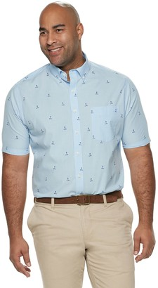 Croft & Barrow Big & Tall Classic-Fit Gingham Easy-Care Button-Down Shirt