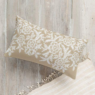 Leaves and Kraft Self-Launch Lumbar Pillows