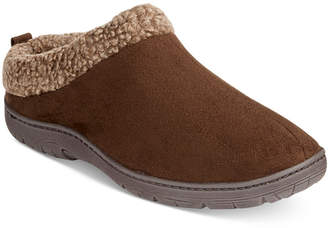 32 Degrees Men's Faux Suede Roll-Collar Clog Slippers $38 thestylecure.com