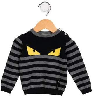 Fendi Boys' Striped Monster Sweater