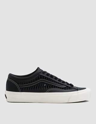 Vans Vault By Twisted Leather Style 36 LX Sneaker in Black/Marshmallow