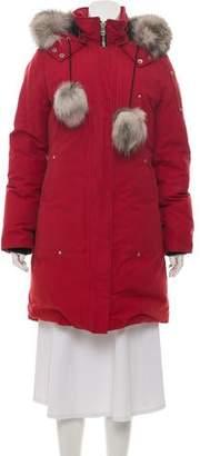 Moose Knuckles Fur-Trimmed Down Coat