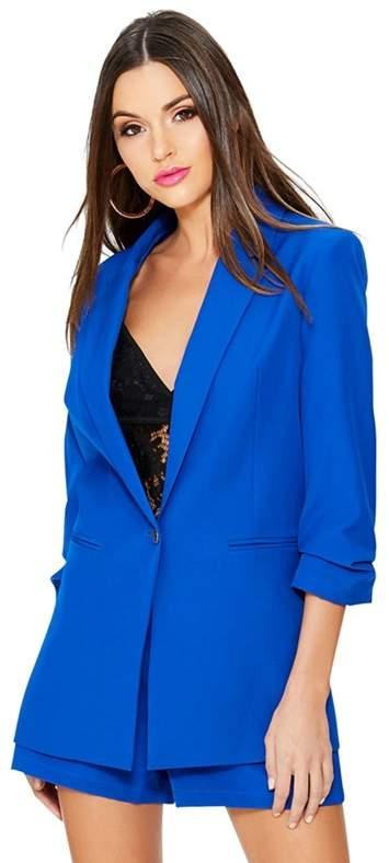 Royal Blue 3/4 Button Suit Jacket