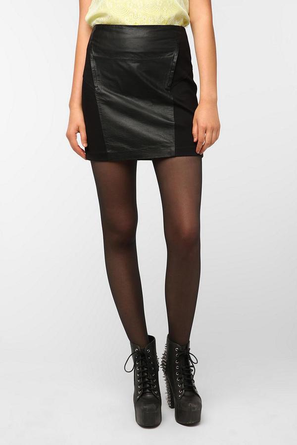 BB Dakota Kerry Ponte Leather Skirt