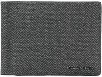Ermenegildo Zegna herringbone bifold cardholder