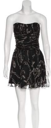 John Galliano Silk Strapless Dress
