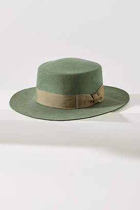 fd7f18e7f49 Wyeth Felted Sage Boater Hat
