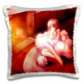 East Urban Home Anime with Sheep Pillow Cover East Urban Home