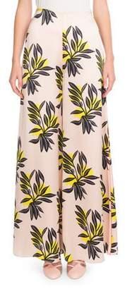 Roksanda Floral-Print Silk Palazzo Pants