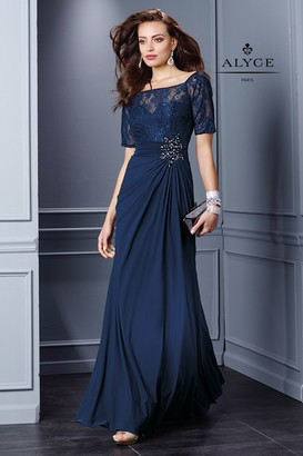 Alyce Paris Mother of the Bride - 29755 Dress in Navy $238 thestylecure.com