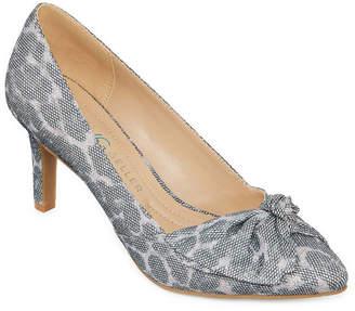 Andrew Geller Womens Tudor Pumps Slip-on Pointed Toe Stiletto Heel