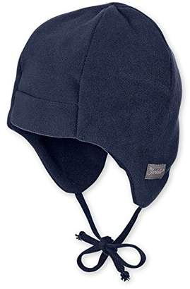 Sterntaler Cap with Earflaps and Ribbons for Babies, Age: from 2-3 Months, Size: 37, Navy