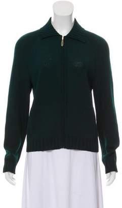 St. John Zip Up Knit Jacket