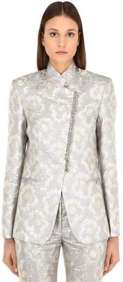 Paco Rabanne Lurex Jacquard Blazer Jacket