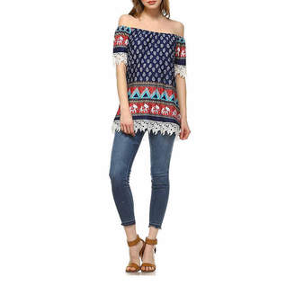 WHITE MARK White Mark Rosella Tunic Top