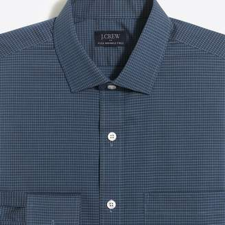J.Crew Factory Thompson slim-fit flex wrinkle-free dress shirt in mini tattersall
