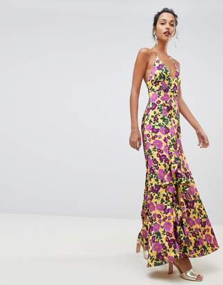 Keepsake Infinity strappy gown in floral print