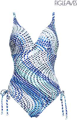 Next Womens Figleaves Multi Riptide Underwired Tummy Control Swimsuit