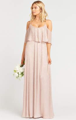 Show Me Your Mumu Caitlin Ruffle Maxi Dress ~ Magic Mauve Glimmer