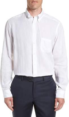 Eton Contemporary Fit Solid Linen Dress Shirt