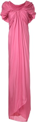 Paule Ka long draped woven dress