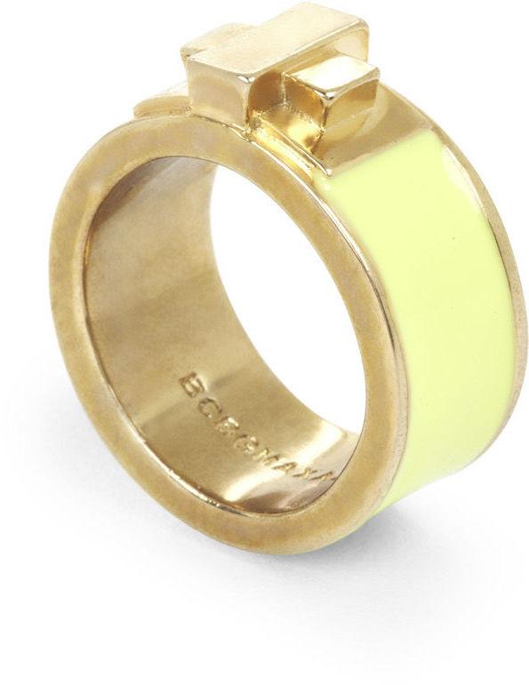 BCBGMAXAZRIA Enamel Turn-Lock Ring