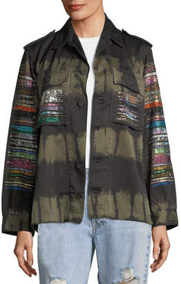 Libertine Friday Nights Tie-Dye Army Jacket