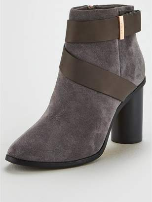 Ted Baker Matyna Suede Cross Strap Ankle Boot