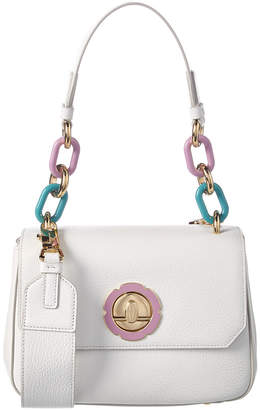 Salvatore Ferragamo Flower Ornament Leather Shoulder Bag