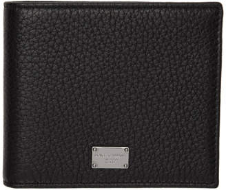 Dolce & Gabbana Black Silver Plaque Wallet