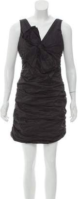 BCBGMAXAZRIA Bow-Accented Mini Dress