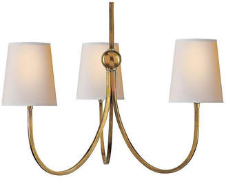 Visual Comfort & Co. Reed 3-Light Chandelier - Antique Brass