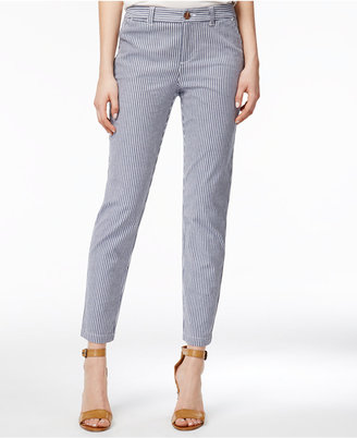 Maison Jules Lou Lou Striped Skinny Pants, Only at Macy's $49.50 thestylecure.com
