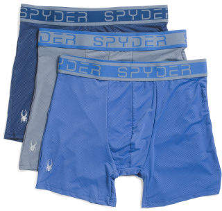 3pk Nylon Mesh Boxer Briefs