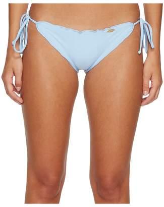 Luli Fama Cosita Buena Wavey Tie Side Ruched Full Bikini Bottom Women's Swimwear