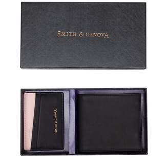 Smith & Canova Mens S&c Folded Wallet & Cardholder Set Wallet Black (Black-Pink)