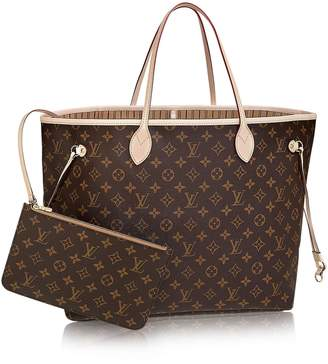 Look At My Bags Neverfull Style Designer Check Woman Organizer Handbag Monogram Tote Shoulder Fashion Bag Size by LAMB