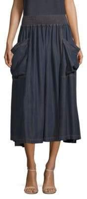 Donna Karan Pull-On Cargo Skirt