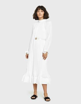 Tibi Pleated Dress with Belt