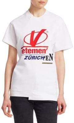 Vetements Cut-Up Logo Tee